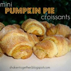 Mini pumpkin pie croissants- link doesn't work but think I know how to make them