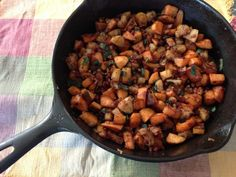 Sweet Potato, Apple, and Pancetta Hash from Gutsy By Nature