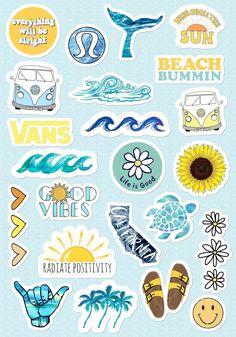 VSCO Girls Light Blue Yellow Stickers for Bottle Phone Case Laptop Tumbler 23 Pc. - VSCO Girls Light Blue Yellow Stickers for Bottle Phone Case Laptop Tumbler 23 Pc… – Art inspi - Stickers Cool, Tumblr Stickers, Phone Stickers, Journal Stickers, Planner Stickers, Cute Laptop Stickers, How To Make Stickers, Kawaii Stickers, Travel Sticker