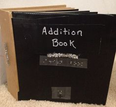 This addition book provides an introduction to basic addition for braille readers who are blind or deafblind.