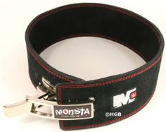 MONSTA Leather Lever Belt for Weight Lifting Powerlifting Power Bodybuilding NEW