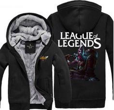 Ekko thick fleece hoodie for winter plus size LOL League of Legends sweatshirt