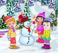 Prepare Baby Lisi for Winter Party and have fun playing in the snow with her two friends Lili and John.