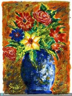 Discover Painting by Sudhir Chalke on Touchtalent. Touchtalent is premier online community of creative individuals helping creators like Sudhir Chalke in getting global visibility. Flower Pots, Flowers, Creative Art, My Arts, Painting, Creative Artwork, Container Plants, Painting Art, Paintings