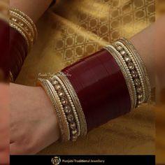 Collection Here Maroon Bridal Dulhan Punjabi Choora Wedding Chudas Set free Shipping