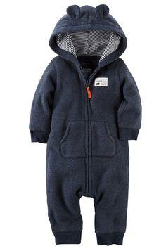 Carter's Baby Boys' Hooded/Eared Romper (Baby) - Bear - Newborn