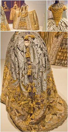 """Fabulous 18th century inspired gowns – Christian Lacroix and Olliver Henry from the exhibition """"Plein les Yeux""""."""