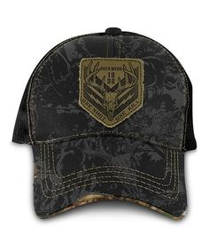168164833d857 Loving this Black Skull  One Shot  Distressed Trucker Hat on  zulily!