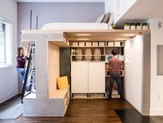 Super Clever Small Space Solution: The Transforming Living Cube | Apartment Therapy