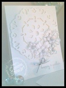 Stampin' Gals Gone Wild Wednesday Free Video - Silver Shimmer Wedding Card - www.SimplySimpleStamping.com