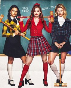 Camila Mendes, Madelaine Petsch, and Lili Reinhart : KneesockedCelebs Riverdale Funny, Riverdale Cast, Powerpuff Girls, Riverdale Wallpaper Iphone, Riverdale Poster, Cami Mendes, Riverdale Cheryl, Most Beautiful Hollywood Actress, Betty And Veronica
