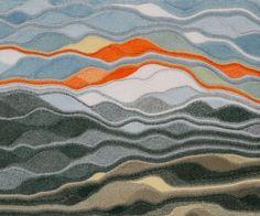 Freeform knitting art inspiration: Silberpfade - Silver alleys