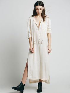 Free People Knock Him Down Shirt Dress at Free People Clothing Boutique