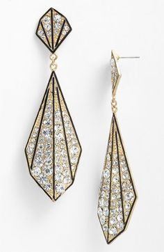 Art Deco style earrings (not vintage)