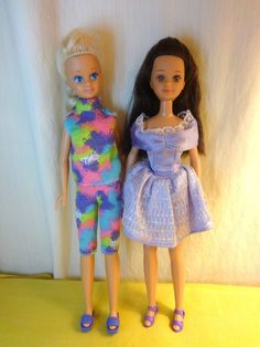 1987 Barbie Sister Teen Skipper and Friend Courtney Two Doll lot-dressed
