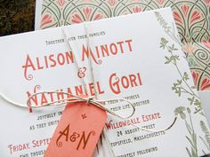 Oh So Beautiful Paper: Alison + Nathaniel's Art Nouveau Garden Wedding Invitations