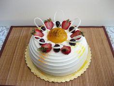 Ranch 99 Bakery- Fresh mango birthday cake | Kirbie's Cravings | A San Diego food blog