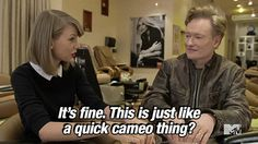 Conan O'Brien and Taylor Swift got manicures. | 23 Things You Missed At The MTV Movie Awards
