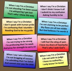 Photo of When I say I am a Christian for fans of Christianity. an 8 verse poem describing a humble Christian spirit