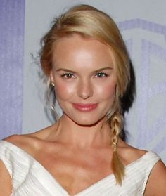 Kate Bosworth  fine hair in a small but pretty braid for a boho look