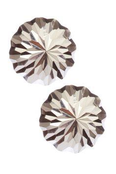 Sterling Silver Diamond Cut Dome Earrings
