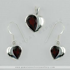 Sterling Silver Studded stone Heart drops and Pendant set  This beautiful set goes with any ensemble representing sophistication and femininity at its finest. Crafted from pure Sterling silver in heart shaped with an eye-catching finish enhances your beauty.  We have Ready Stock Silver Jewelry in Jaipur, And Supplies in Wholesale Price. Get A Sample Order only $99 From Jaipur, India. https://www.gemstonesilverjewellery.com/