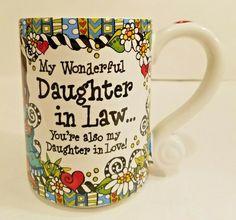 Suzy Toronto Coffee Mug My Wonderful Daughter in Law - Love #SuzyToronto