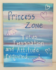 Original Painting for girls room. Princess Zone. by PaintedSea, $29.99