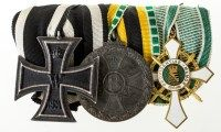 Three Place WWI Saxon Medal Bar