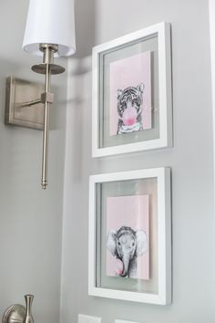 Girls' Bathroom Decor Details & Sources | Bless'er House A full list of paint colors, decorating sources, home improvement details, and DIY projects for a girly, classic bathroom renovation. #bathroomreno #homeimprovement