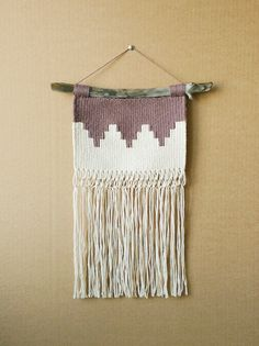 LARGE Geometric Hand Woven Weaving and Macrame Wall Hanging (macrame wall hanging) by ALIFERA on Etsy
