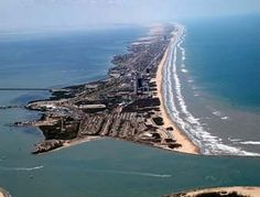 South Padre Island.  Located down south in Texas, this is a beautiful beach.  It's crazy during spring break but extremely quiet the rest of the year.  I swam there in June and the locals thought I was crazy cause it was 80 degrees cold.  Next time I go I will go tarpon fishing off the shore.