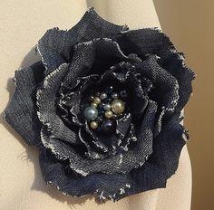 Цветы из джинсовой ткани - Страница 5