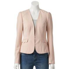 3a429f051ba ELLE™ Scalloped-Edge Blazer - Women's in Powder Pink Kohls Outfits, Powder  Pink