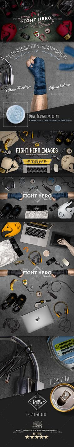 Fight Sport Hero Image Generator #design Download: http://graphicriver.net/item/fight-sport-hero-image-generator/12147639?ref=ksioks