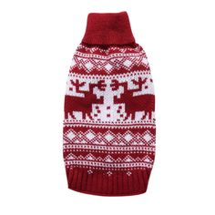 YZBear Pet Dog Sweater Puppy Cat Winter Coat Apparel Red Christmas Reindeer Holiday Festive Clothes >>> Learn more by visiting the image link. (This is an affiliate link) Pet Puppy, Pet Dogs, Pets, Christmas Animals, Christmas Dog, Christmas Knitting, Christmas Sweaters, Dog Closet, Pet Sweaters