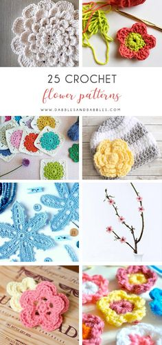 25 Crochet Flower Patterns Check this list of easy crochet patterns that is full of simple flowers and even has a crochet rose pattern. All the warmth of spring at your fingertips. The post 25 Crochet Flower Patterns appeared first on Yarn ideas. Crochet Leaf Patterns, Crochet Leaves, Crochet Motif, Irish Crochet, Crochet Stars, Crochet Flower Hat, Crochet Headband Pattern, Crochet Roses, Simple Flower Design