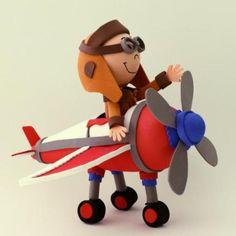 fofucho aviador  goma eva termoformado