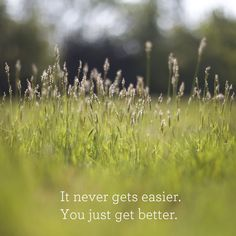 It never gets easier, you just get better at dealing with it!