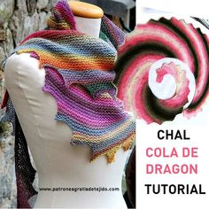 How to weave a dragon tail shawl step by step in text and video Poncho Au Crochet, Beau Crochet, Tunisian Crochet, Love Crochet, Knitted Shawls, Crochet Scarves, Beautiful Crochet, Crochet Clothes, Crochet Stitches
