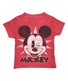 Mad Engine Red Heather Mickey Tee - Kids | zulily