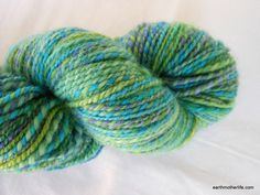 Lakeside - BFL DK-Light Worsted 2 ply Handspun Yarn by EarthMother Designs