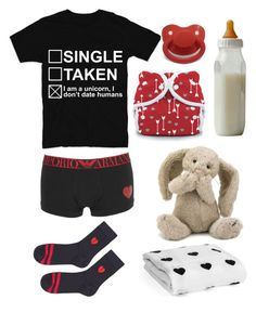 """""""Valentines Baby (cg/l)"""" by transboyfanboy ❤ liked on Polyvore featuring Emporio Armani, Topshop and Jellycat"""