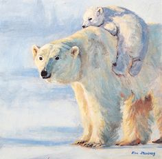 Piggyback ride by kim stenberg acrylic x panda в 2019 г. Bear Watercolor, Watercolor Animals, Watercolor Paintings, Watercolors, Polar Bear Paint, Polar Bear Drawing, Bear Paintings, Bear Nursery, Animal Quilts
