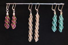 Kumihimo Wire earrings (and bracelets). Instructions £5 Also 45 colours of enamelled copper wire available from £1
