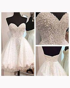 Beading Sweetheart Pretty A-Line Short Prom Dress,Homecoming Dress,Graduation Dress F17