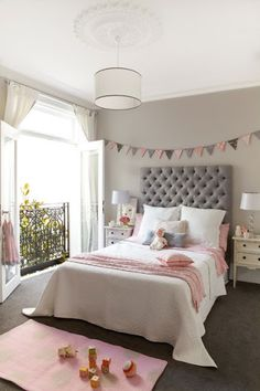 pink grey girls bedroom - Google Search | Girls Bedroom ...