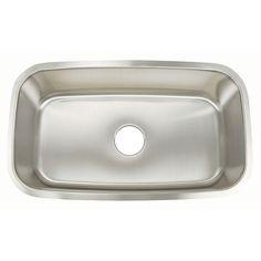 """Premium Stainless Steel 18G Kitchen Sinks - Large Rectanglular Bowl / 18G / 31"""" / 18"""" / 8"""""""