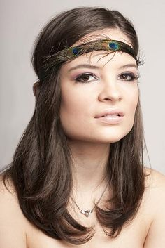 cute feather headband