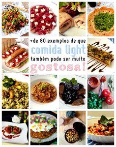 EspecialComidaLightGostosa_CozinhandoPara2ou1 Super Healthy Recipes, Keto Recipes, Comidas Light, Light Diet, Food Festival, Health Diet, Carne, Meal Prep, Clean Eating